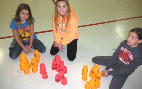 Elementary cup-stacking!