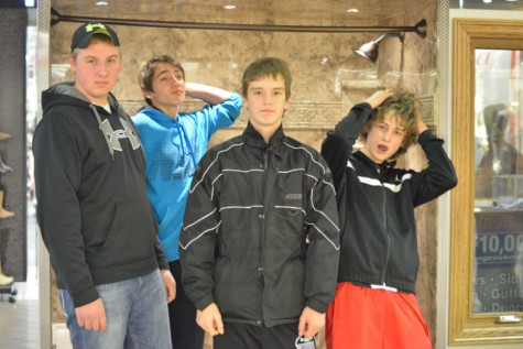 Andrew Johnson, Kyler Waters, Steven Kavajecz, and Chase Reijo strike a pose.
