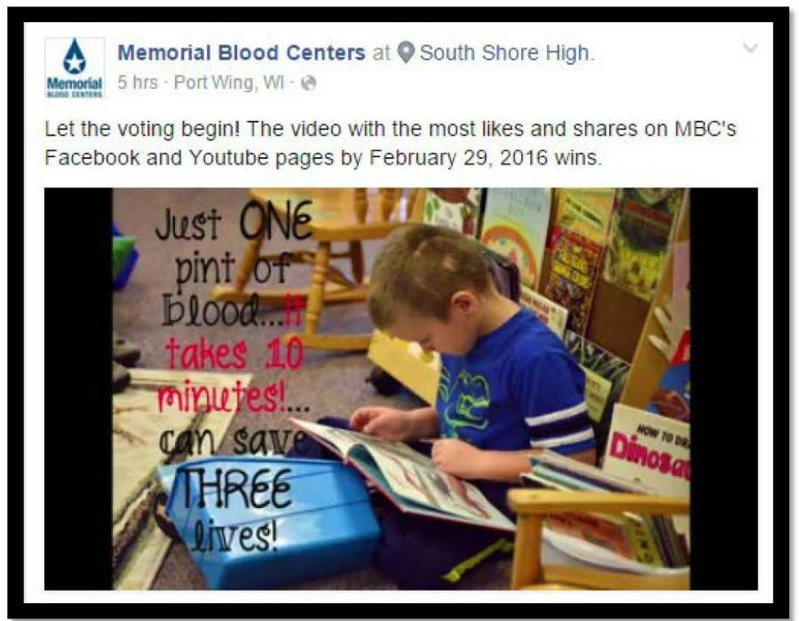 Tucker Mueller shares his story to encourage people to donate blood.