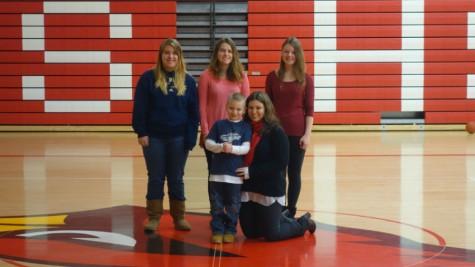 Crystal Stewart, Rachael Teeter, Emma Winge & Tucker & Mindy Mueller win Memorial Blood Center video contest.