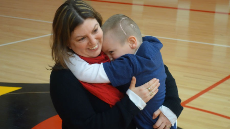 Mindy and Tucker Mueller celebrate the win!