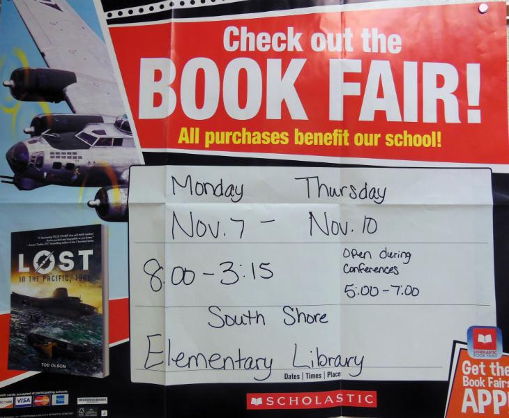 Book Fair, Hope To See You There!