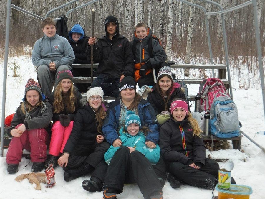 South Shore's seventh grade class finally getting their chance to go on the Ojibwa Winter Camp.