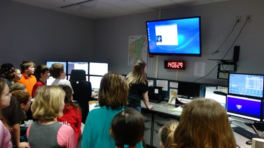 At Dispatch, South Shore students are walked through the process of what happens when someone calls the emergency number.