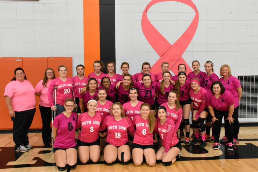 Butternut & South Shore Volleyball Teams Unite in Pink