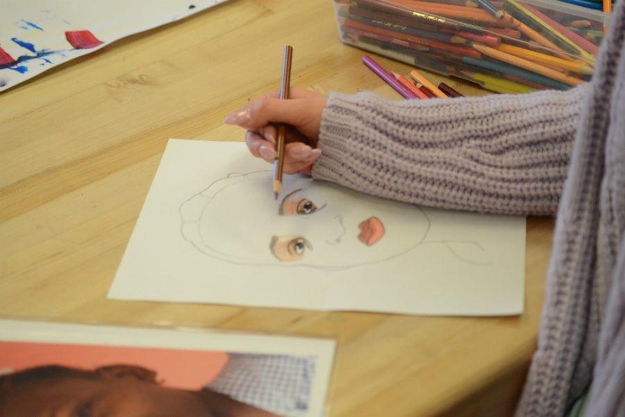Jamie Nicoletti's drawing of her child in Haiti.