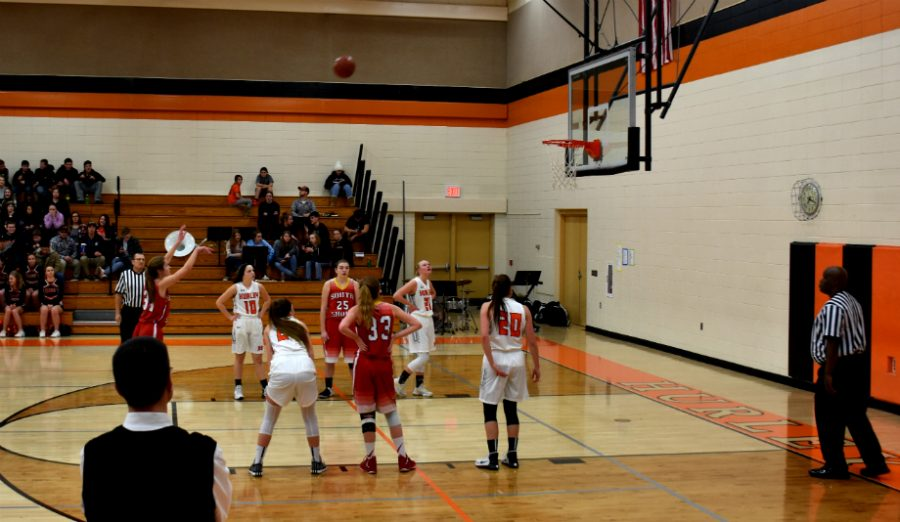 Chloe Sipsas shoots her free-throws in game against Hurley.