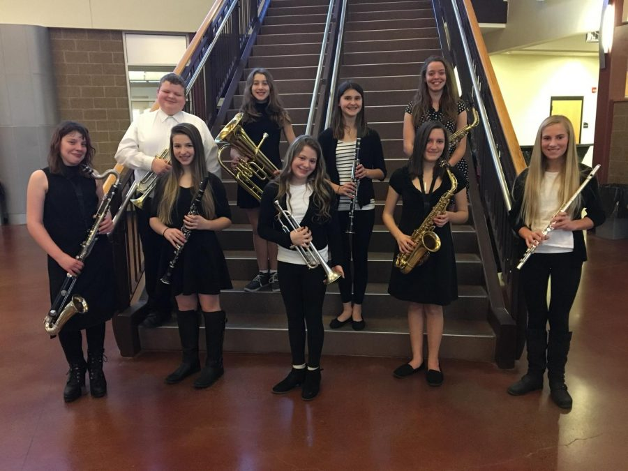 Happy to be performing with other local students for the NWMA Music Competition. Isabella Caratzola, Jacob Nollet, Marisol Greene, Andi Riddle, Kiley Mueller, Leila Tuura, Veda Dreher, Natalie Golly & Paige Lahti