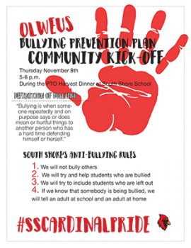 Olweus Bullying Prevention Kickoff
