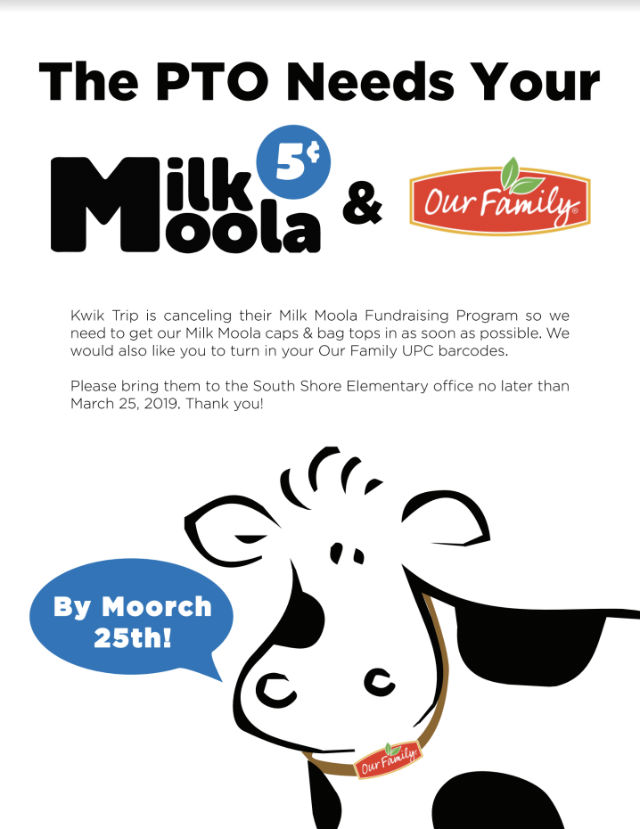 The PTO needs your Milk Moola!