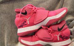 Megan Gustafson Signed Shoes