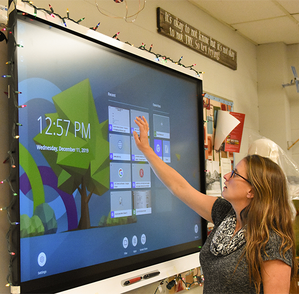 Interactive Flat Panels for the School