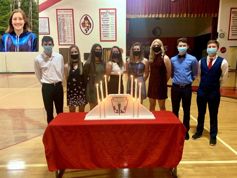 Left to right: Kyla Smith, Caden LaFontaine, Abby Lahti, Leila Tuura, Natalie Golly, Natalie Knaack, Taylor Nicoletti, Matthew Knaack, Koy Nelson