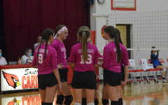 Volleyball Holds Annual Pink Out Game
